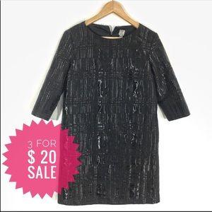 Tristan A-Line black textured dress Sz 6